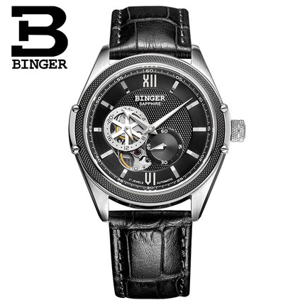 Binger Mens Watches Top Brand Luxury Full Steel Automatic Mechanical Men Watch Classic Male Clocks High Quality Watch vinoce mens watches top brand luxury high quality full steel quartz watch classic men fashion male clocks relogios masculino