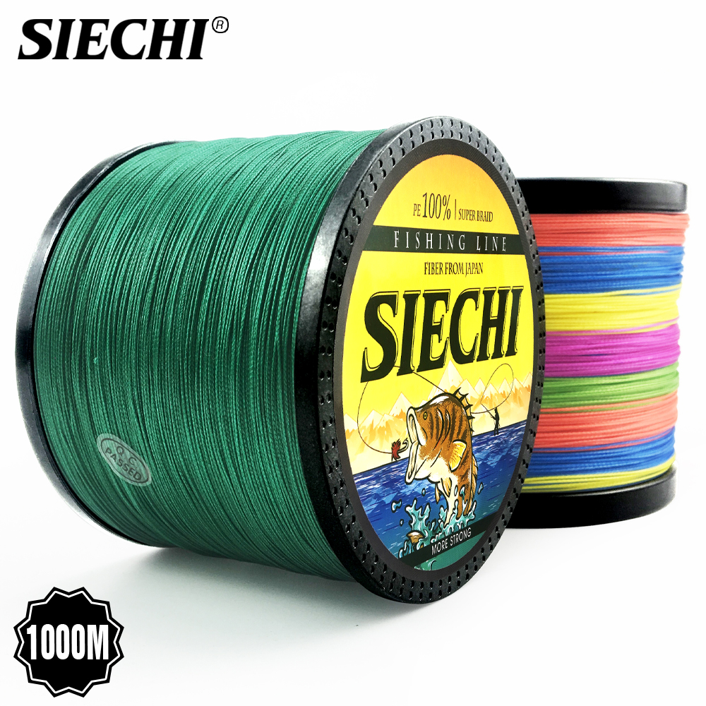 SIECHI Series 1000M Fishing Line 12-83LB Braided Line Smooth Multifilament PE Fishing Line For Saltwater Fishing(China)