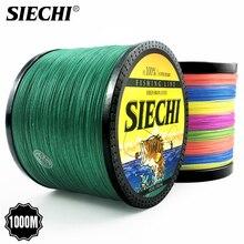SIECHI серия 1000 м леска 12-83LB плетеная леска гладкая многонитевая PE рыболовная леска для морской рыбалки