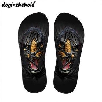 c14f78502 Sandalias deportivas para hombre doginthehole chanclas planas Cool Tiger  Lion Animal Printing zapatos de playa hombres