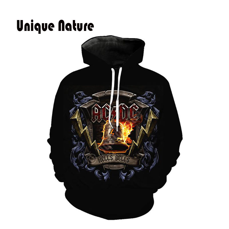 Unique Nature 3D Print Hoodies Long Sleeve Sweatshirts with Hat Small Bell Tracksuits Mens Outwear Fashion Design Pullover in Hoodies amp Sweatshirts from Men 39 s Clothing