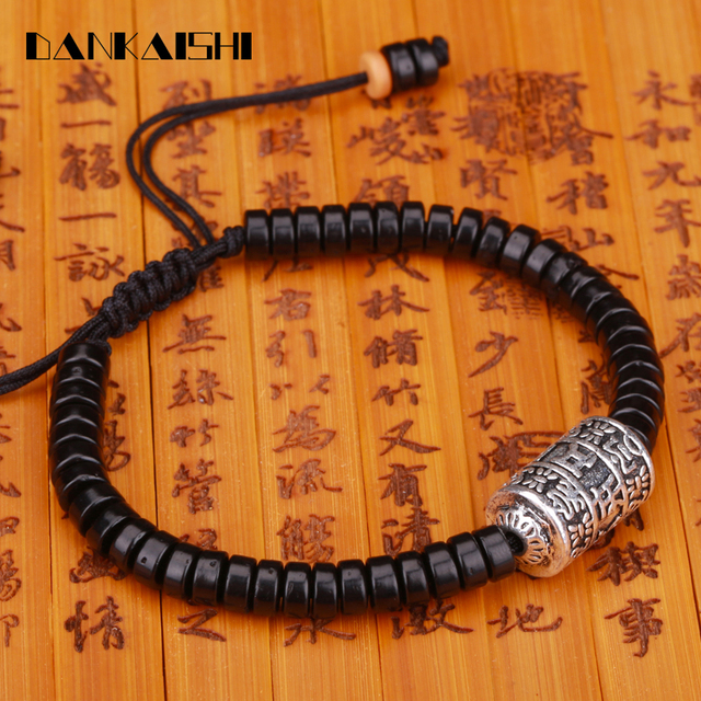 handmade beads pieces strand bracelet prayer buddhism bracelets item natural dankaishi meditation adjustable wheel coconut