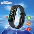 BANGWEI Neue Männer Smart Sport Uhr IP68 Wasserdichte Fitness Tracker Blutdruck Herz Rate Überwachung Digitale Elektronische Uhr-in Digitale Uhren aus Uhren bei