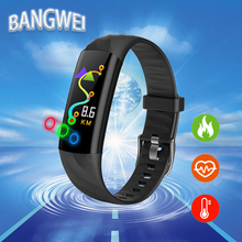 цены BANGWEI New Men Smart Sport Watch IP68 WaterproOf Fitness Tracker Blood Pressure Heart Rate Monitoring Digital Electronic Clock