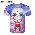Hot único verão 3d t shirt dos homens t-shirt galaxy planeta alienígena masculino impressão de manga curta casual tops t dos homens camisas