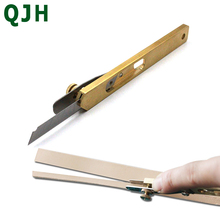 1 Pcs  Durable leather cutting knife DIY Leather Cut Tools Incision Craft Knife Copper Trimming with Blade