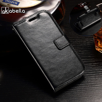AKABEILA Phone Cover Case For Microsoft Nokia Lumia 540 Flip Leather Case For Nokia N540 5.0 inch Cover Phone Accessories
