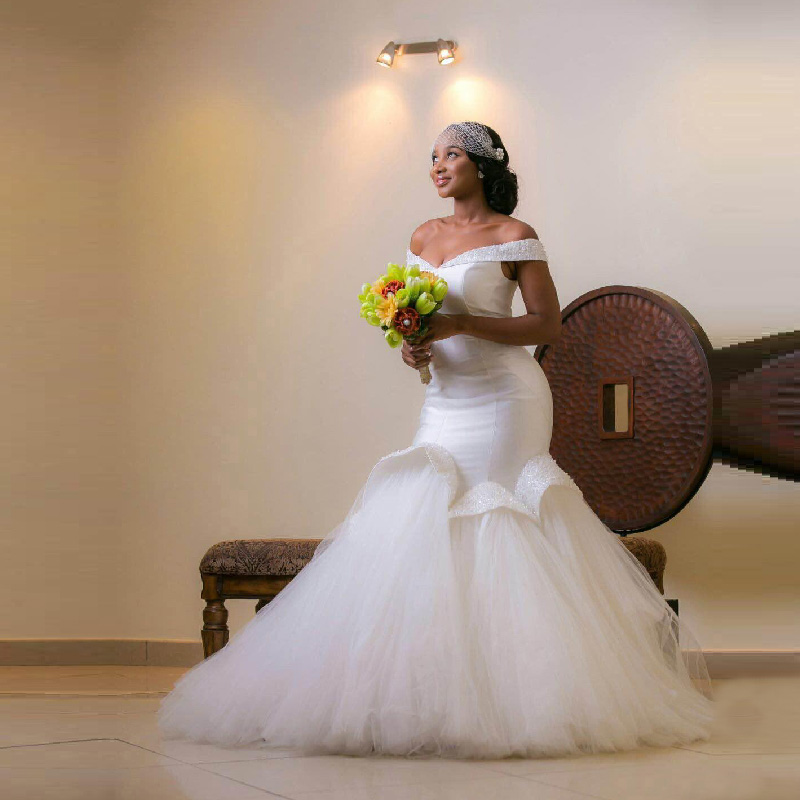 Femmes Africaines Sirene Robes De Mariee 2016 Plus La Taille