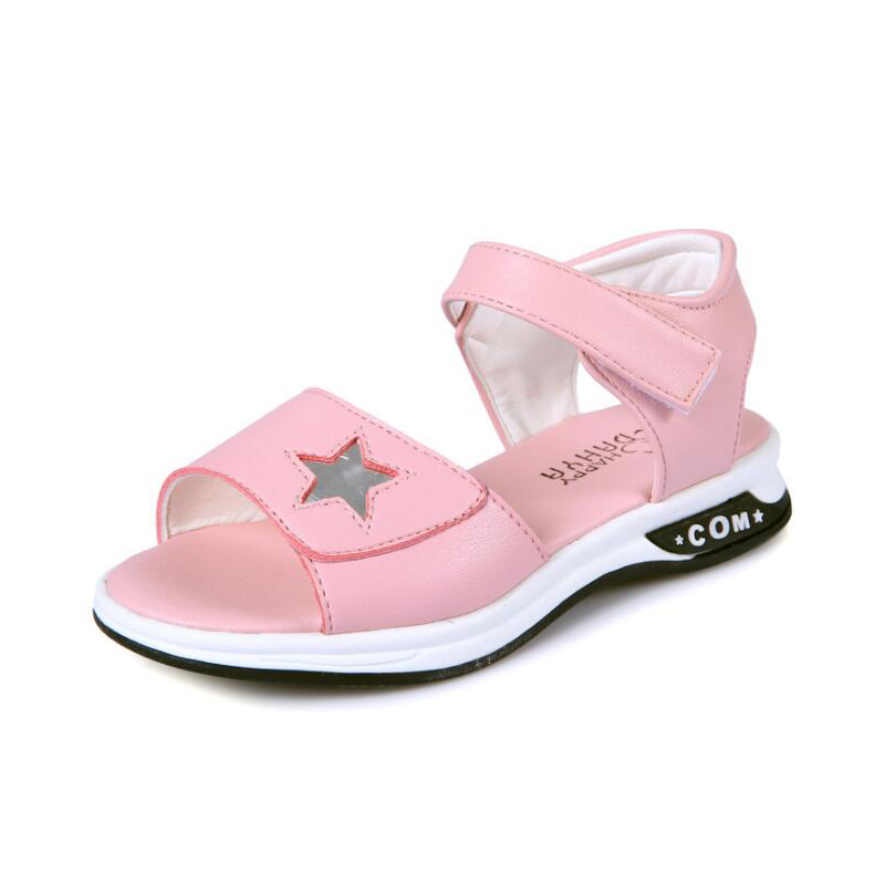 2018 Summer Shoes Princess Sandals Girls Fashion Kids Shoes Children Girls Beach Shoes Breathable Casual Sandals For Girls Pink ...