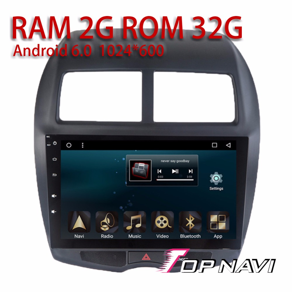 auto gps players for mitsubishi asx 2013 10 1 39 39 android 6. Black Bedroom Furniture Sets. Home Design Ideas