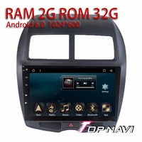 Auto GPS Players for Mitsubishi ASX 2013 10.1'' Android 6.0 Topnavi Car Vehicle Navigation with free map Update Multimedia