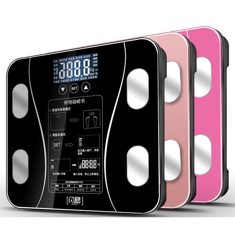 Bagno Corpo Peso Bilancia Bilancia s Vetro Intelligente Delle Famiglie Elettronico Piano Digitale del Peso di Equilibrio Bariatrica Display LCD PK xiaomi
