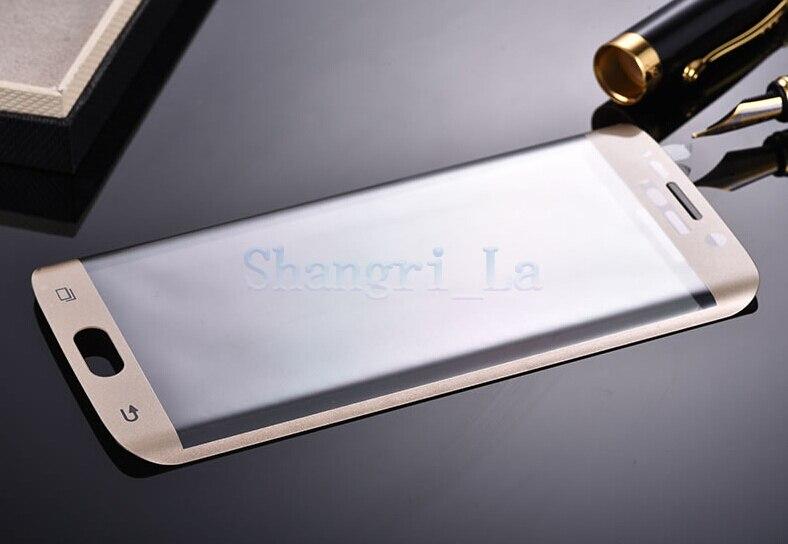 Cheapest! Ultra Thin 0.2mm 3D <font><b>Full</b></font> <font><b>Cover</b></font> <font><b>Curved</b></font> <font><b>Side</b></font> Tempered Glass 5pcs/lot Film Screen Protector For <font><b>Samsung</b></font> <font><b>Galaxy</b></font> S6 <font><b>Edge</b></font>