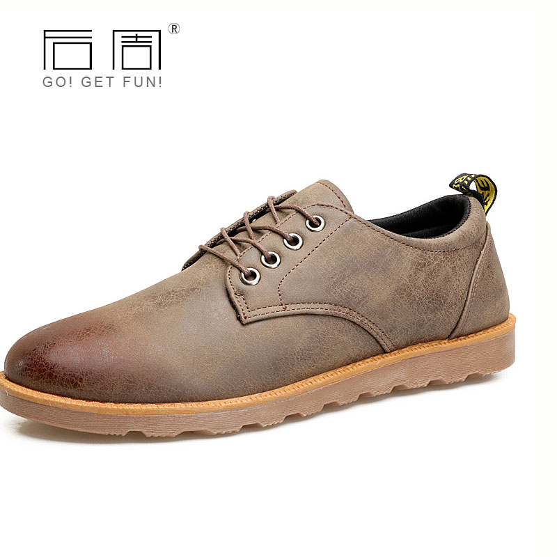 QWEEK Men Casual Shoes Pu Leather Fashion Lace-up Flats Male Shoes Moccasins Low Breathable Footwear Spring/autumn Work Shoes 2017 autumn fashion men pu shoes slip on black shoes casual loafers mens moccasins soft shoes male walking flats pu footwear