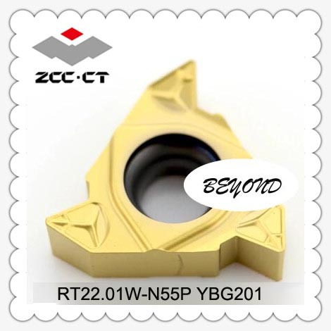 RT22 01W N55P YBG201 Zcc Cutting Blade Turning Tip Series Lathe Tool external threading tool holder