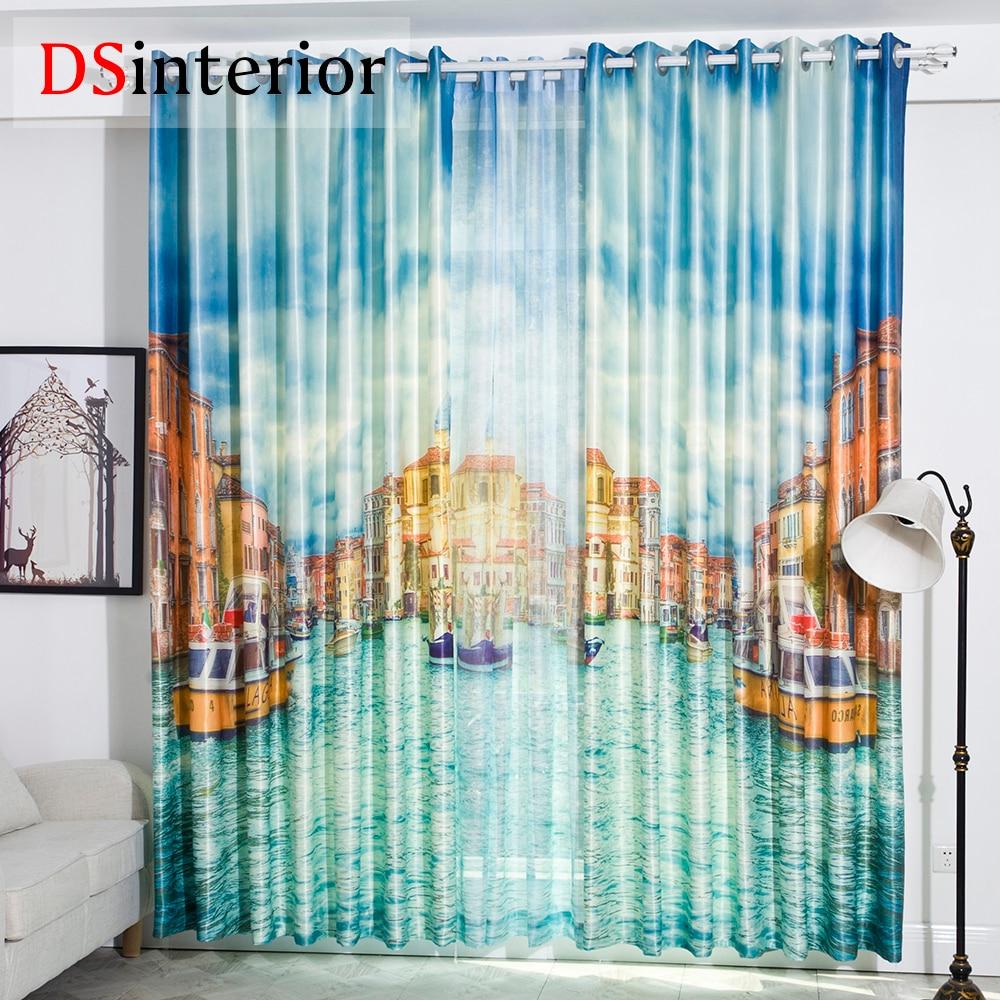 DSinterior digital printing DIY 3D photo curtain custom made