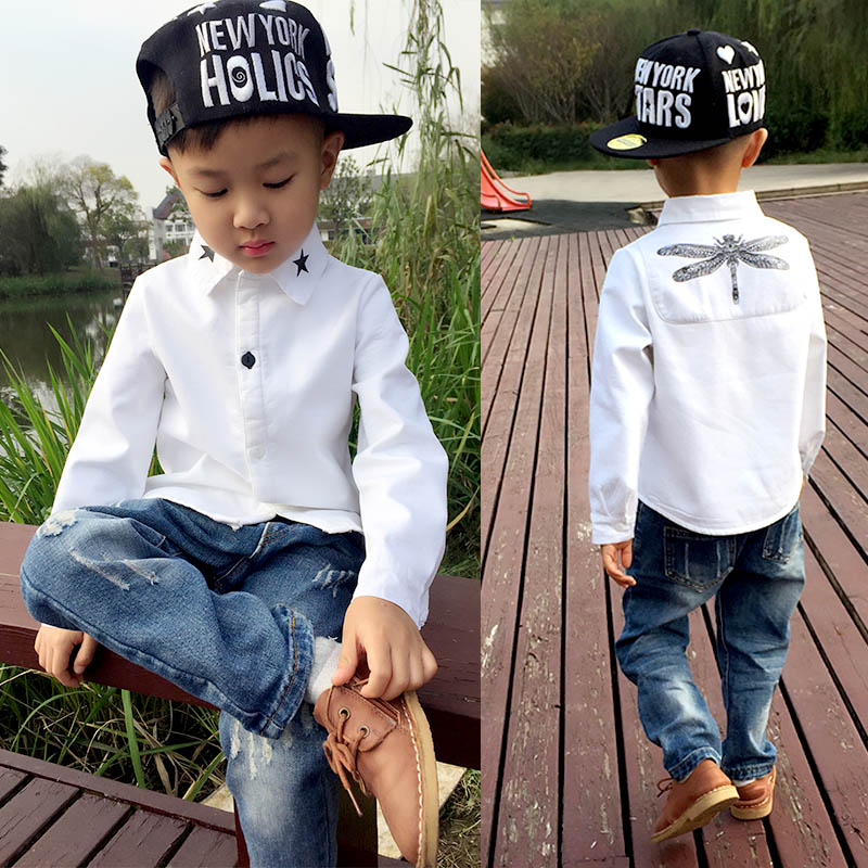 Childrens Cotton Casual Dragonfly-Shirts