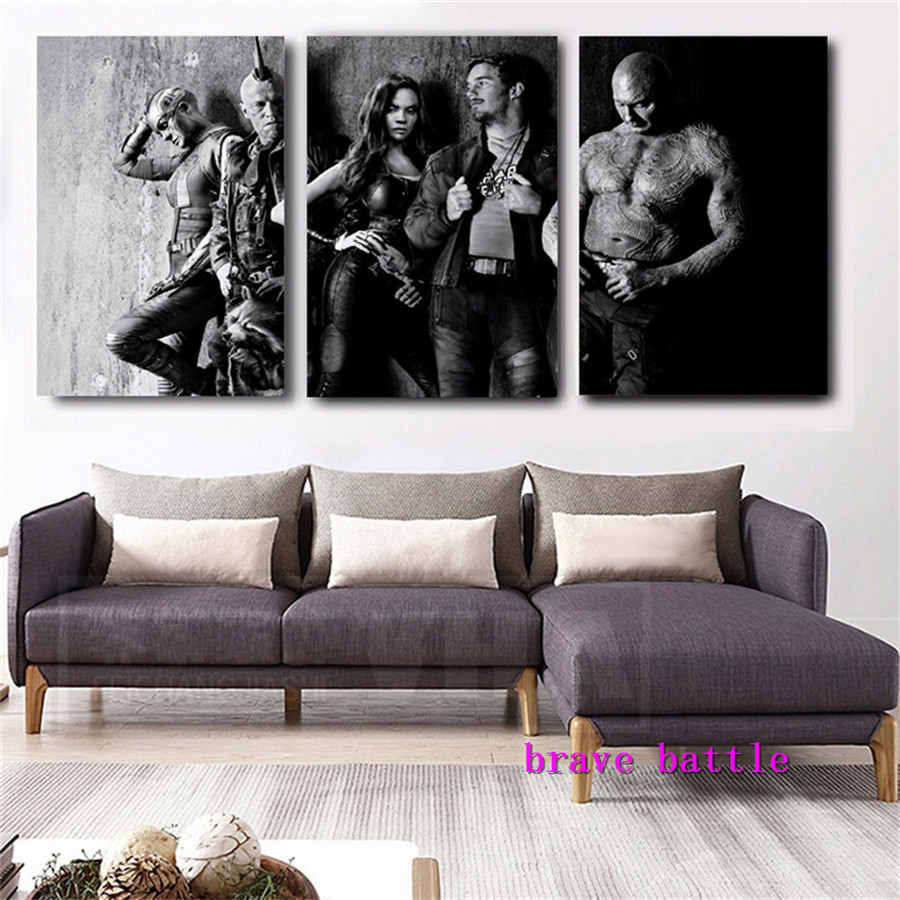 Guardians of The Galaxy Canvas Painting Living Room Home Decor Modern Mural Art Oil Pain ...