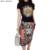 High Street Moda Mulheres Camisa e Saia Ternos de Duas Peças Leão Animal Streetwear 2 pcs Define T + Faldas