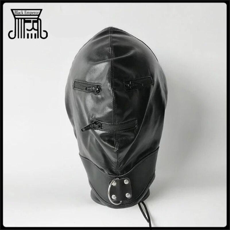 BDSM Bondage Sex Toys Fetish Sex Hood Headgear Erotic Leather Sex Adult Games SM Mask For Couples