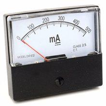 Ampèremètre rectangulaire à aiguille, 0-500 mA 1A 2A 3A 5A 10A 20A 30A 50A 100A