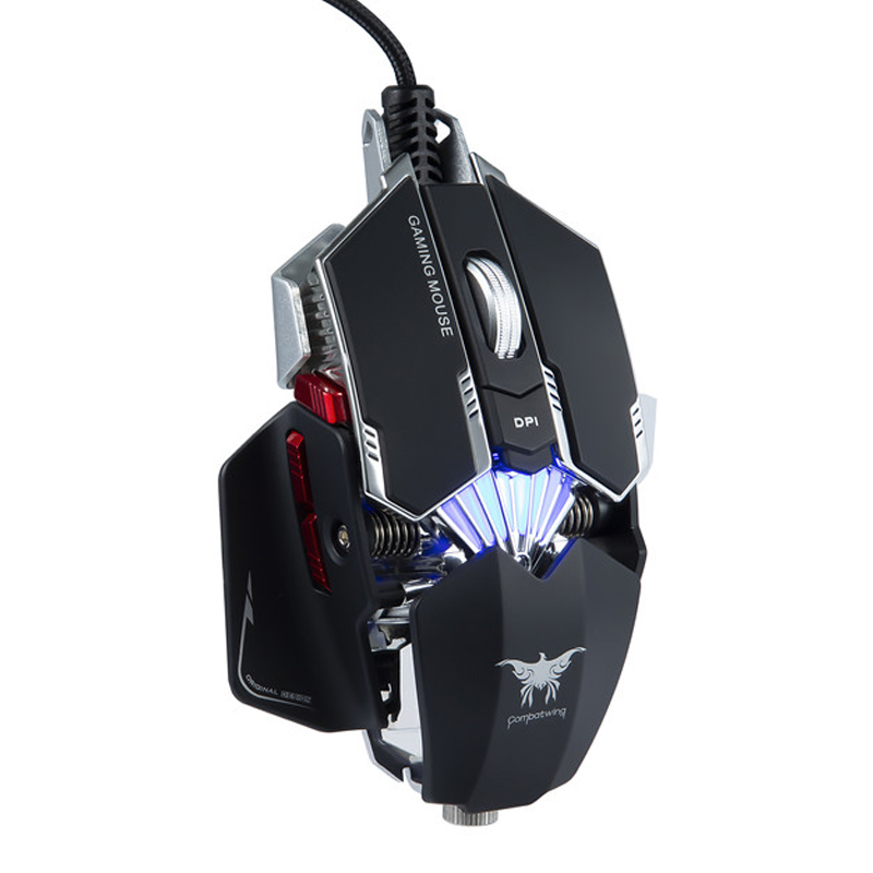 ONIKUMA Silence Click Wired Gaming Mouse 7 Buttons USB Mute LED Optical Cable Ergonomic Computer Mouse