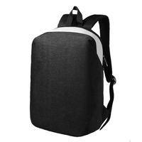 Men Student Laptop Backpack Computer Accessories Backpacks Double Ended Zipper Business Outdoor Travel Notebook Bags Solid