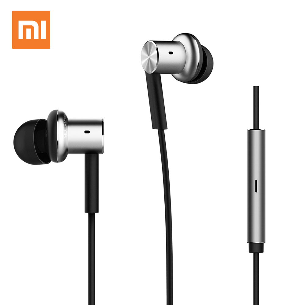 Original Xiaomi Earphone Hybrid Headphone Mi Headset Brand Earbuds With Microphone Earpods Airpods xiaomi hybrid piston hybrid pro dual driver earphone stereo headset circle iron noise cancelling for xiao mi samsung headphone