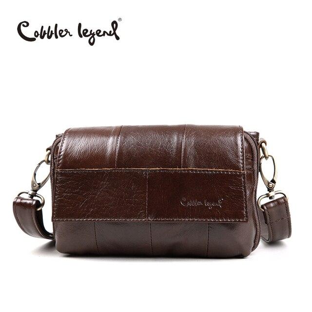 d0cb1f9fd64e Cobbler Legend Original Women s Messenger Bag Genuine Leather Small  Handbags Vintage Crossbody Shoulder Bags For Women  803211