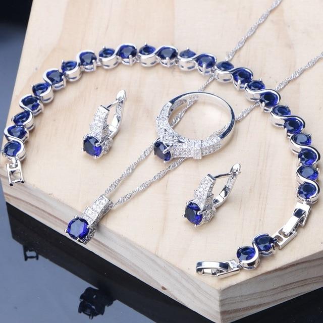 Blue Jewelry Sets Wedding...