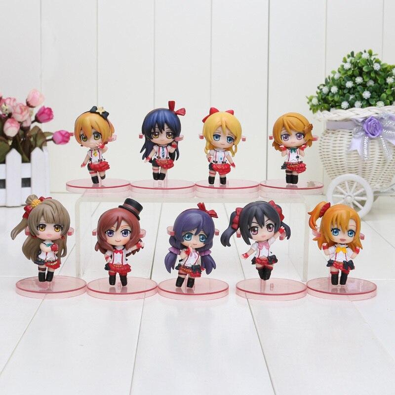 9pcs/set 6.5cm Anime Love Live! School Idol Project PVC Action Figures Toys