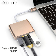 3 in 1 Hub USB Type C to HDMI USB 3.0 Adapter For Apple Macbook USB-C 3.1 Hub Adapter Type C HDMI 4K 1080P Convertor