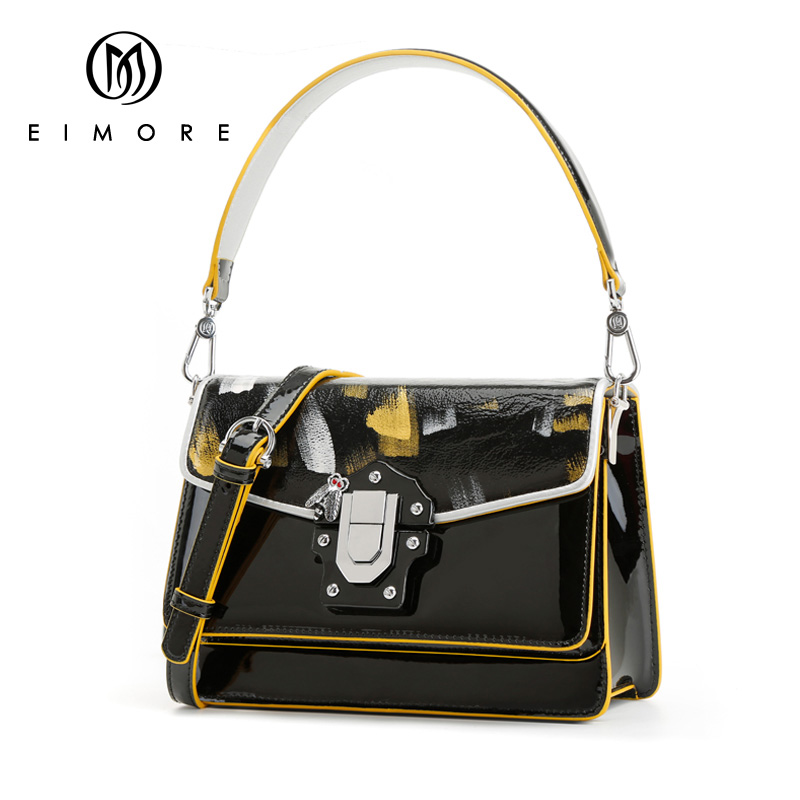 EIMORE New Designer Women Handbags Leather Fashion Female Shoulder Crossbody Bags Anti-theft Tote bag With Special Lock BagEIMORE New Designer Women Handbags Leather Fashion Female Shoulder Crossbody Bags Anti-theft Tote bag With Special Lock Bag