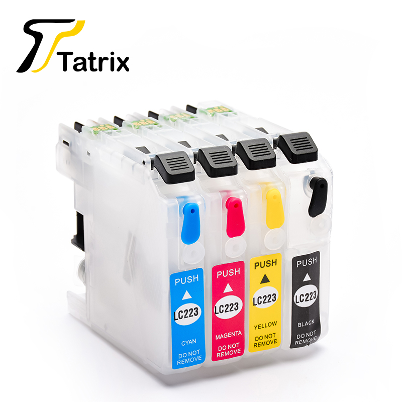 Tatrix LC223 многоразовый чернильный картридж для Brother DCP-J4120DW J4620DW J4625DW J5320DW J5620DW J5625DW J5720DW