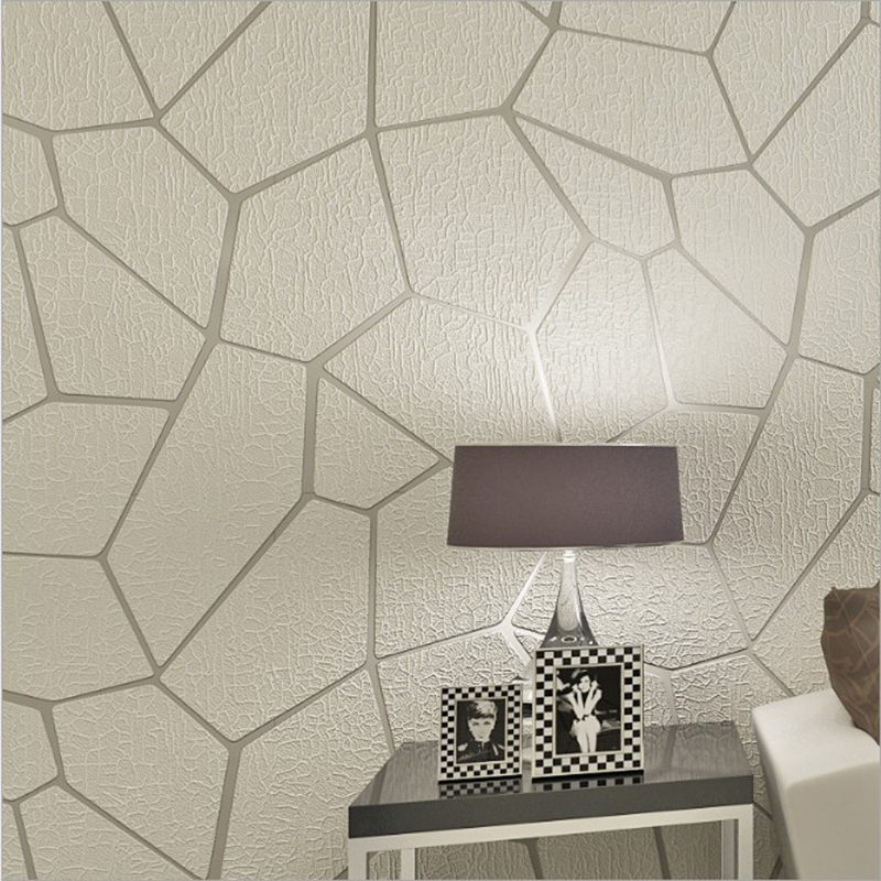 3D Embossed Geometry Wallpaper Modern Simple Non-woven Flocking Wall Paper For Walls Living Room Bedroom Wall Covering Wallpaper modern linen wall paper designs beige non woven 3d textured wallpaper plain solid color wall paper for living room bedroom decor
