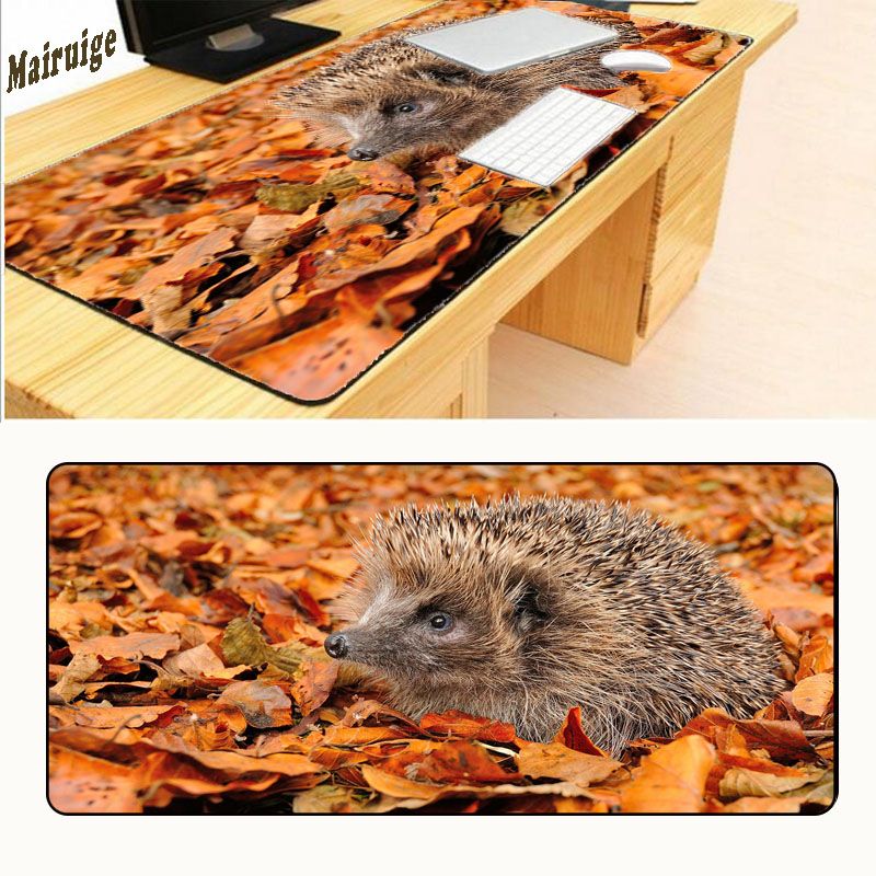 Mairuige Colorful Hedgehog Lock Edge Gaming Soft Mat Pads for PC Optical Mouse Laser Mice Large Mouse Pads for 900*400*2mm