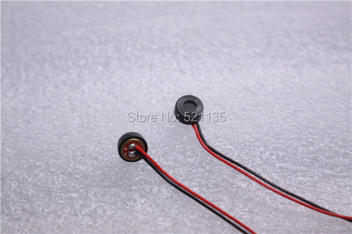 Free shipping 10pcs 4*1.5mm Electret Condenser Microphone MIC Capsule 2 Leads