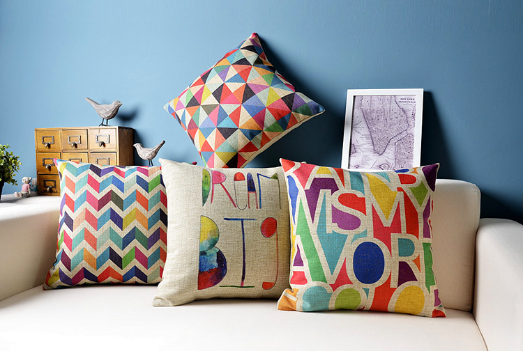 Aliexpress.Com : Buy Geometric Cushion Decorative Pillows Colorful