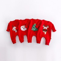 Christmas Baby Rompers Lovely Santa Claus Costume Kids Newborn Clothes Long Sleeve Spring Children Infant Clothing