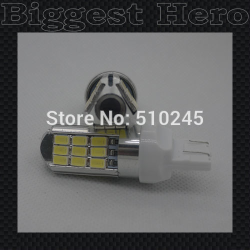 30X Super Bright White High Power 7W 5630 SMD 7443 7440 27 LED Bulbs For Turn Signal,Backup DRL Lights free shipping