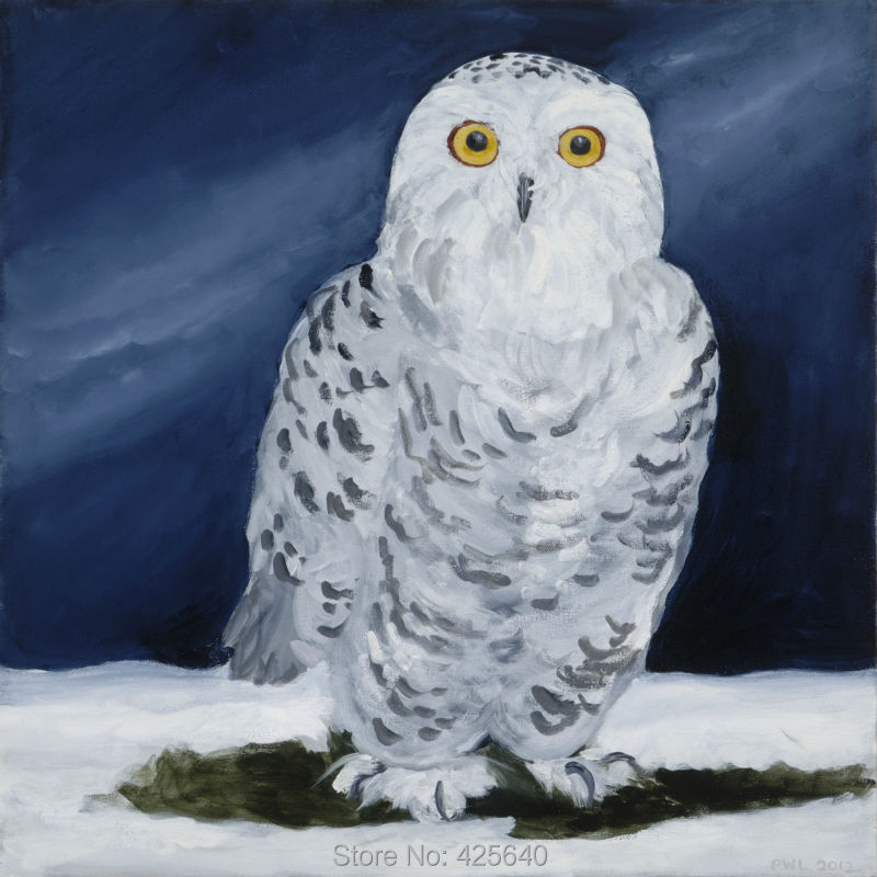 Buy Home Decor Snowy Owl Painting Home