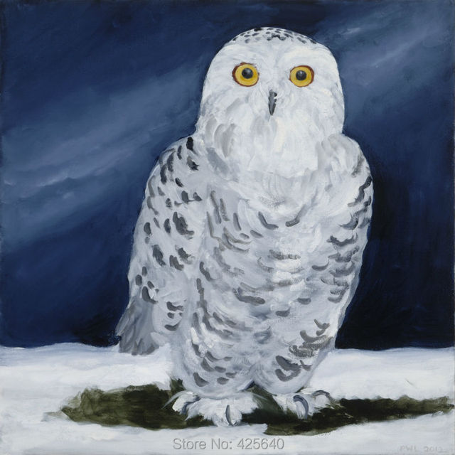 Home Decor Snowy owl Painting Home Decoration Oil painting ...