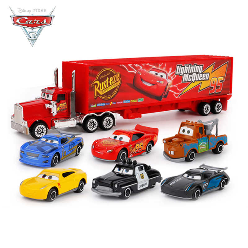 2019 New Disney Pixar Cars 3 Lightning McQueen Jackson Storm Mack Uncle Truck 1:55 Diecast Metal Car Model Boy Toy Gift