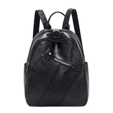 цена на Backpack Female 2019 New Fashion Korean Version of the wild women Travel backpack simple PU Leather ladies large capaccity tide