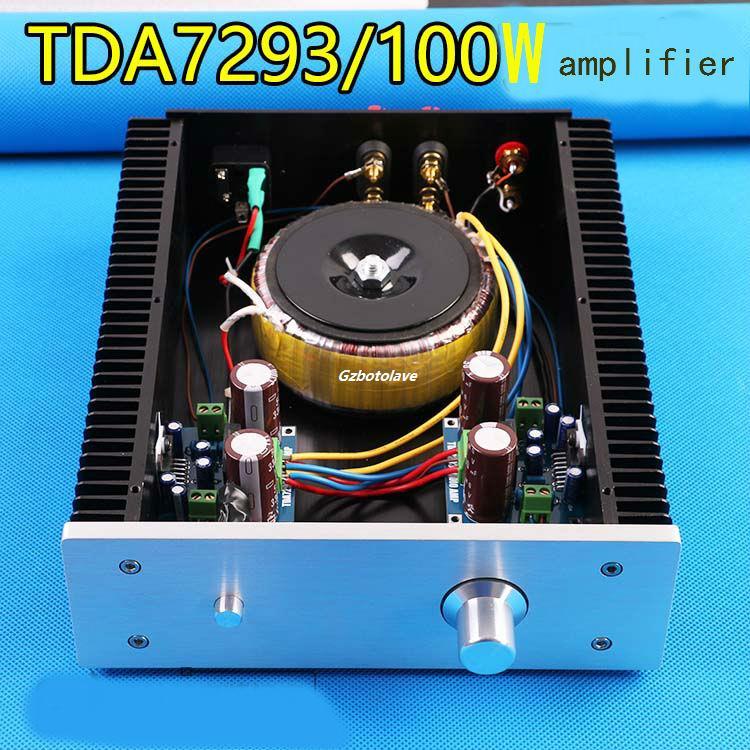 Assembled Super cooling high power TDA7293 HIFI amplifier good sound kaish black p90 high power sound neck