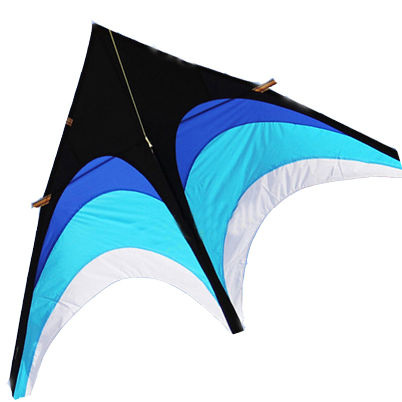 NEW ARRIVE OUTDOOR FUN SPORTS 2.8M POWER BEAUTIFUL PINK/BLUE DELTA KITE WITH HANDLE /STRING EASY TO FLY