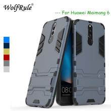 WolfRule Huawei Nova 2i Case Huawei Mate 10 Lite Cover Soft  Rubber + Plastic Kickstand Case For Huawei Nova 2i Case honor 9i g case slim premium чехол для huawei mate 10 lite nova 2i black