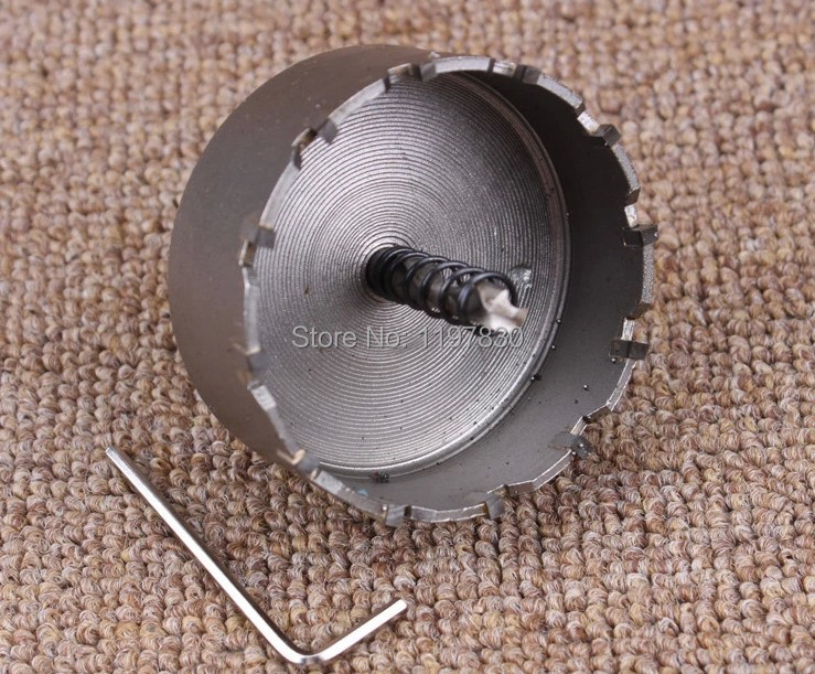 Quality 80mm diameter TCT hole saw drill bits core bits for stainless steel drilling hole opener triangle shank 10-12mm diameter xintylink chrome steel percussion drill bit cement drill hole saw wall drill square shank for building site