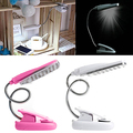 Flexible Adjustable Clip On Clamp 28 LED Desk Lamp Bedside Reading Table Light