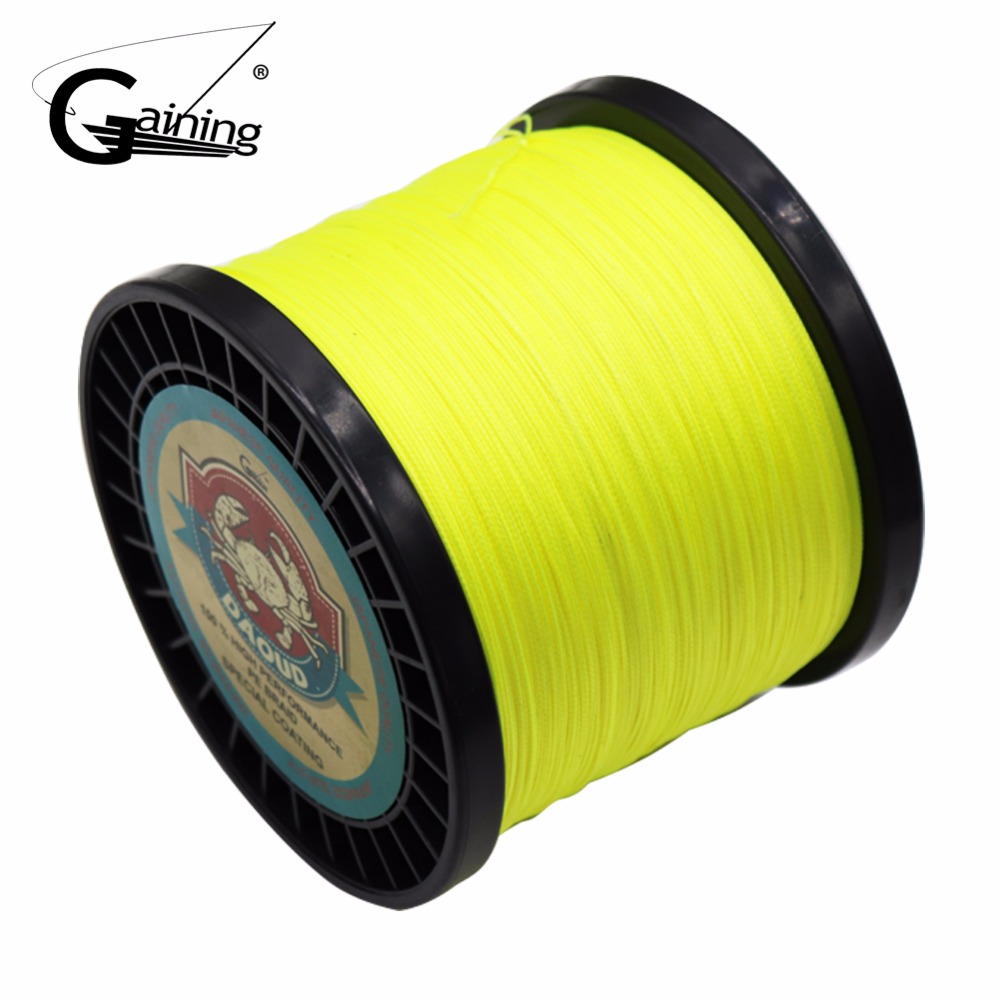 Gaining Braided Fishing Line 8 Strands 1000m Multi Color Super Strong Japan Multifilament PE Braid Line 30 55 70 108 140 185LB 1000m strong japan multifilament pe braided fishing line rainbow super fishing rope for sea fishing fishing braid 8 strands